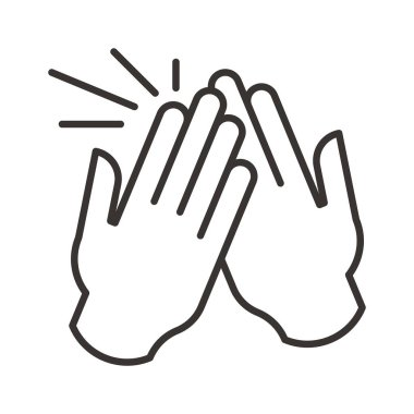 High five icon illustration