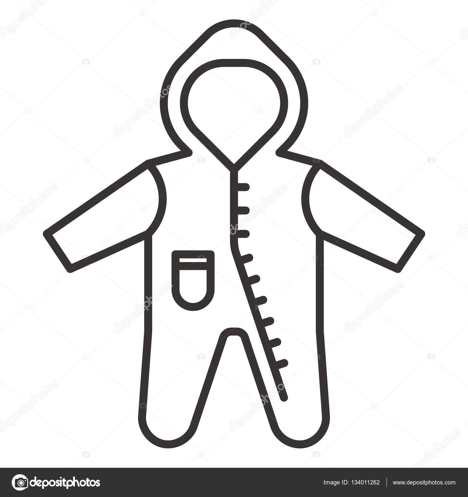 赤ちゃん服アイコン イラスト ストックベクター Everydaytemplate