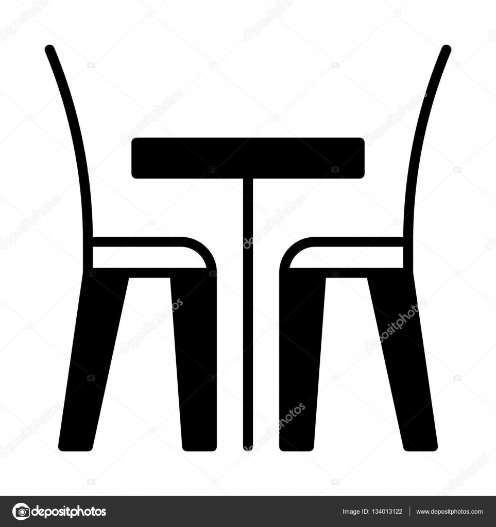 icono mesa y silla icono de mesa y sillas � vector de