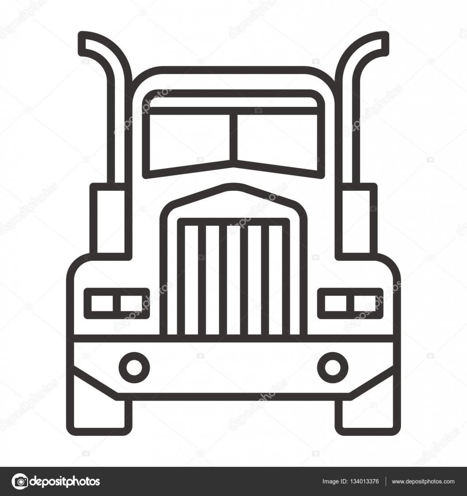 einfaches Symbol LKW — Stockvektor © everydaytemplate #134013376