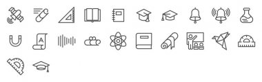 Set of Education and science icons