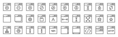 internet windows icons