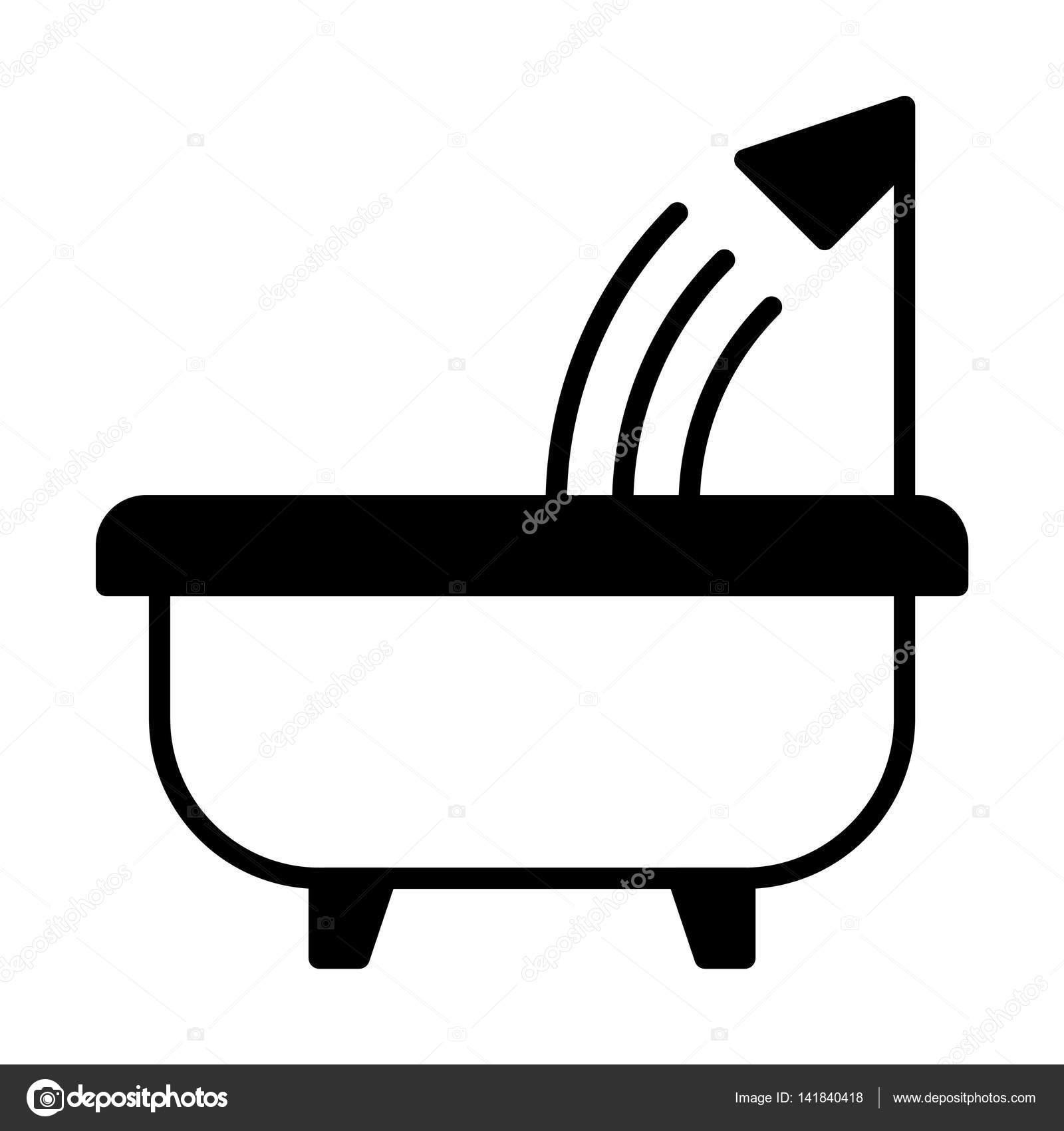 diseño de icono de baño — vector de stock © everydaytemplate