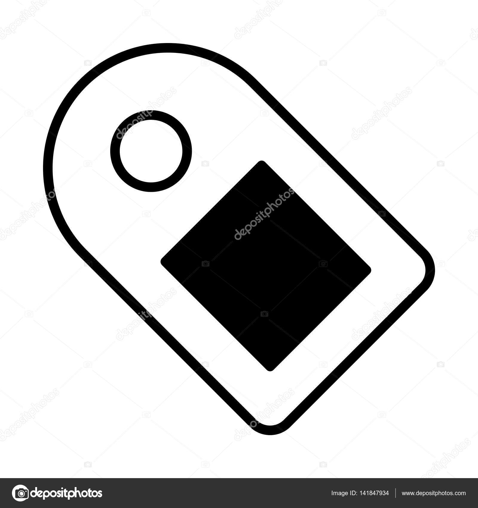 Paper Price Tag Icon Stock Vector Everydaytemplate 141847934