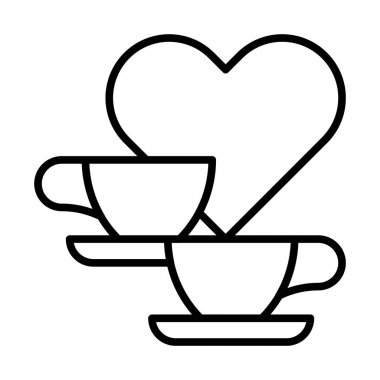 coffee cups and heart