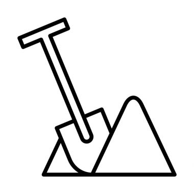Shovel icon illustration