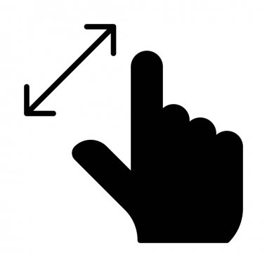 hand pinch zoom in gesture icon