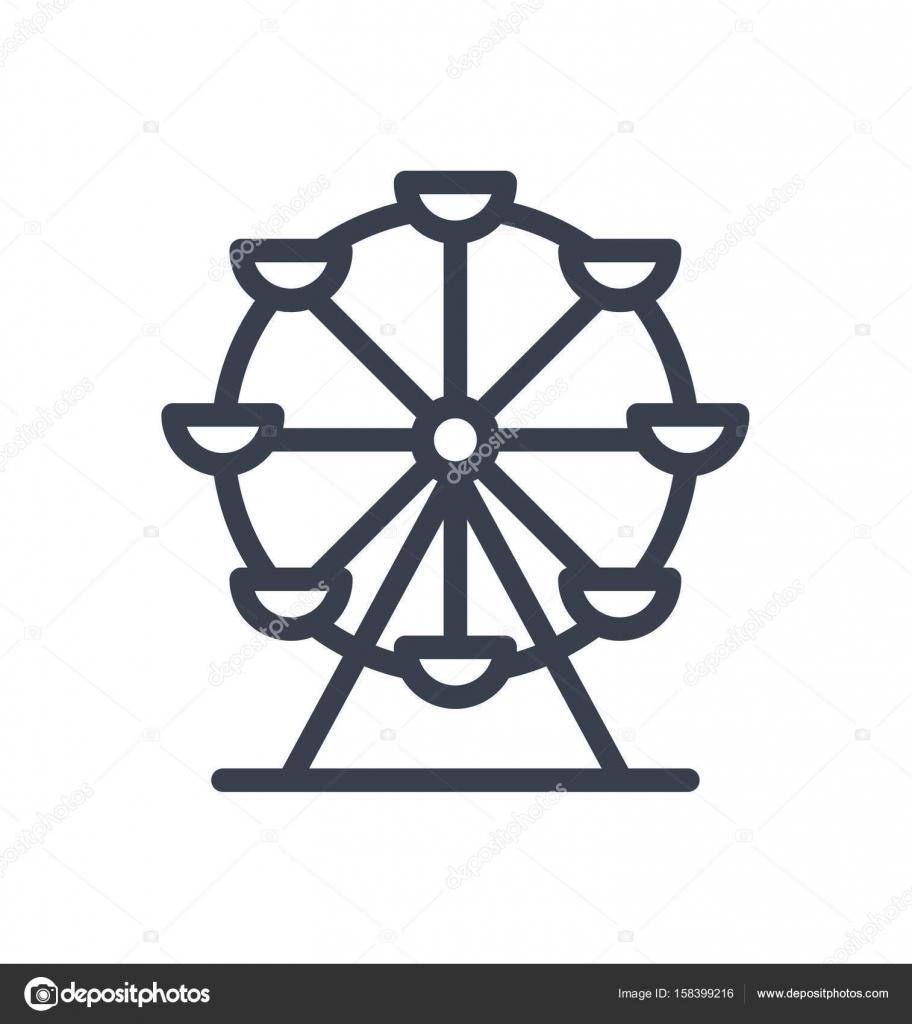 Ilustración del icono de rueda de la fortuna — Vector de stock ...