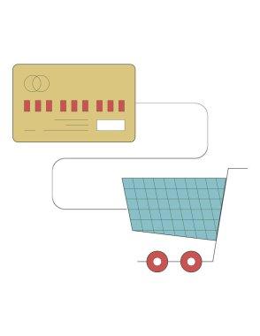 non-cash icon illustration