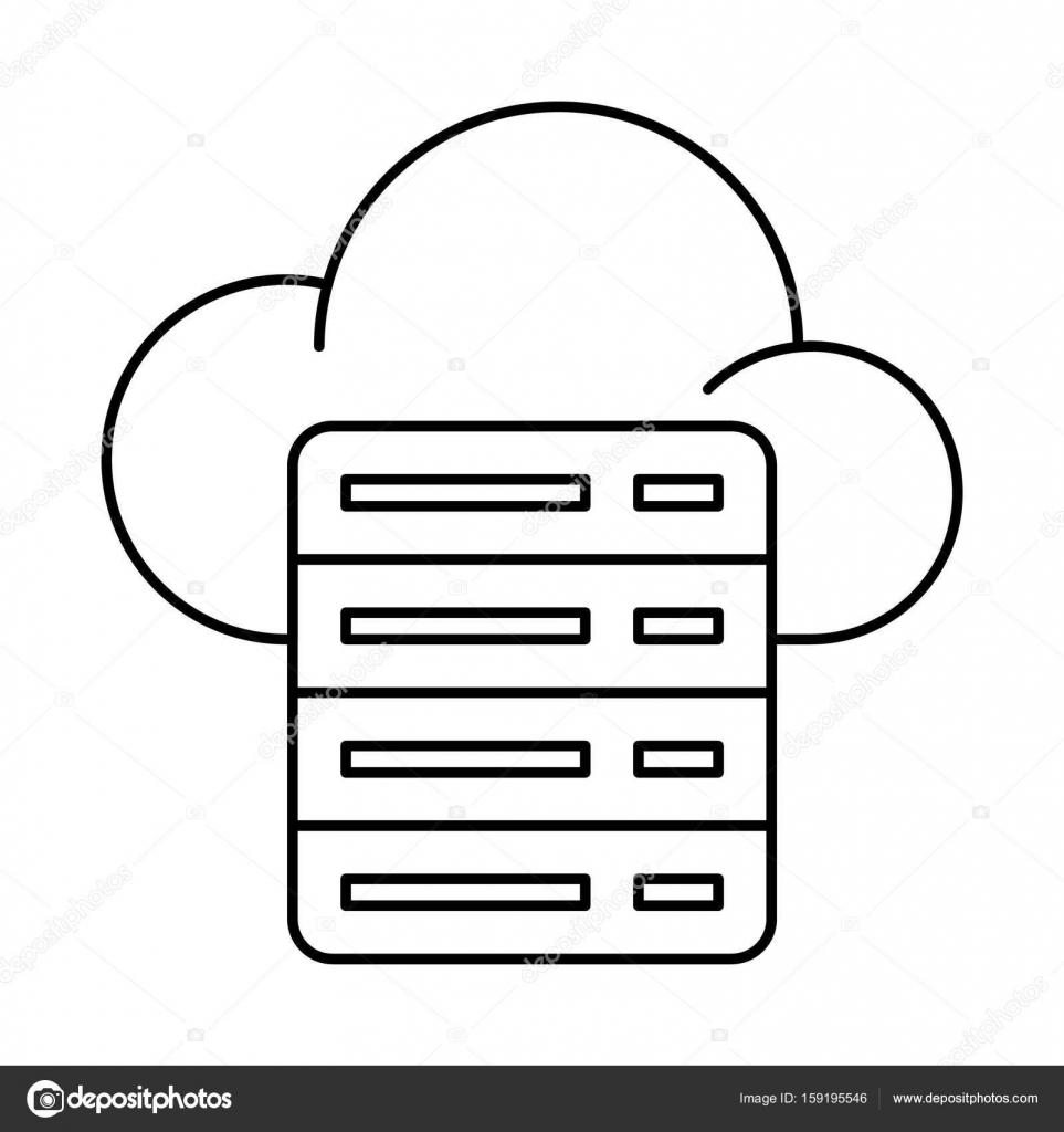 cloud server icon illustration stock vector everydaytemplate