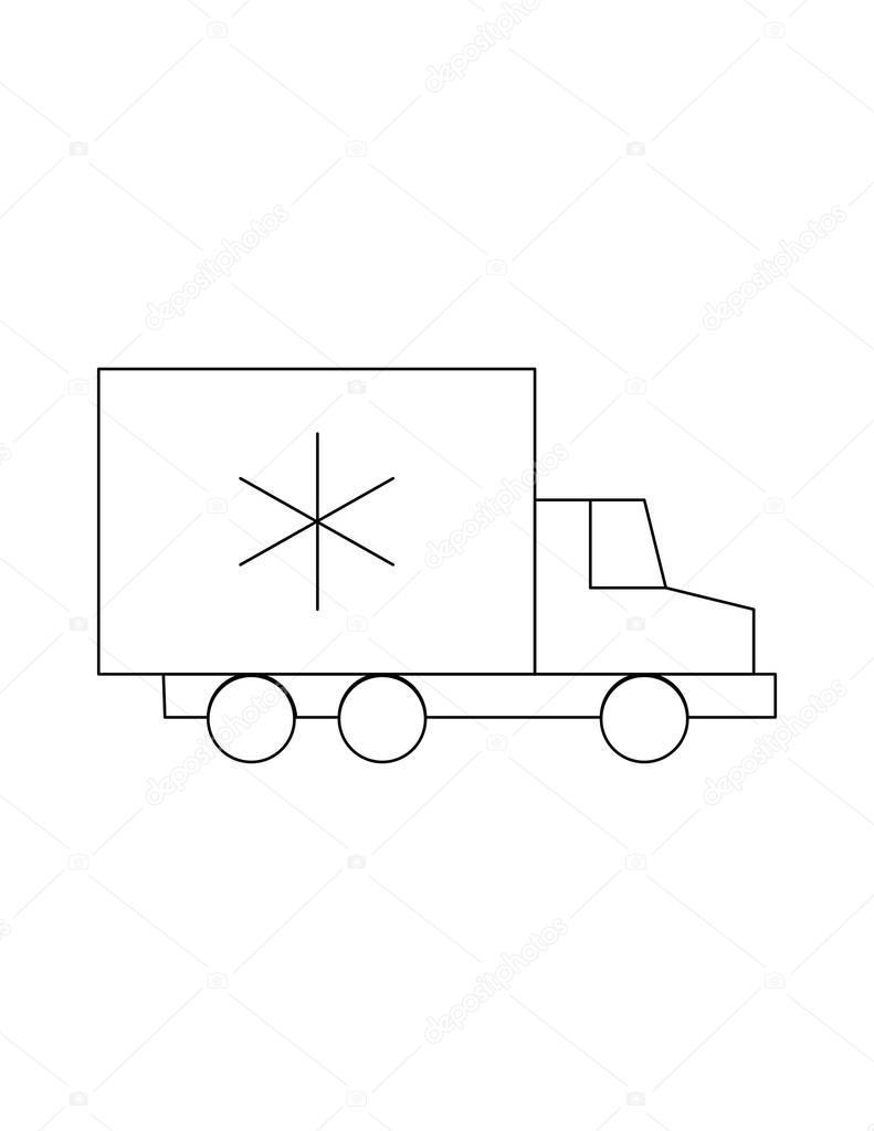 Transport Kühlschrank Liniensymbol — Stockvektor © everydaytemplate ...