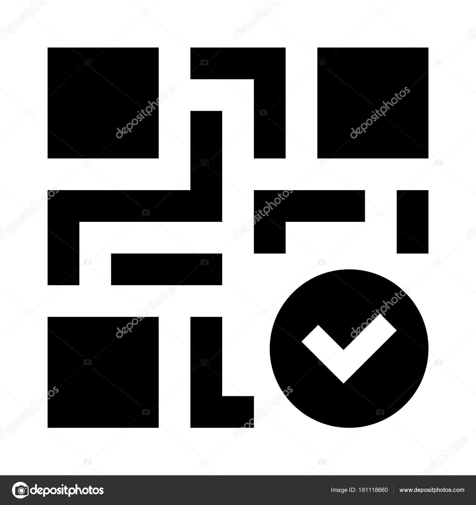 Code Check Web Icon Vector Illustration Stock Vector