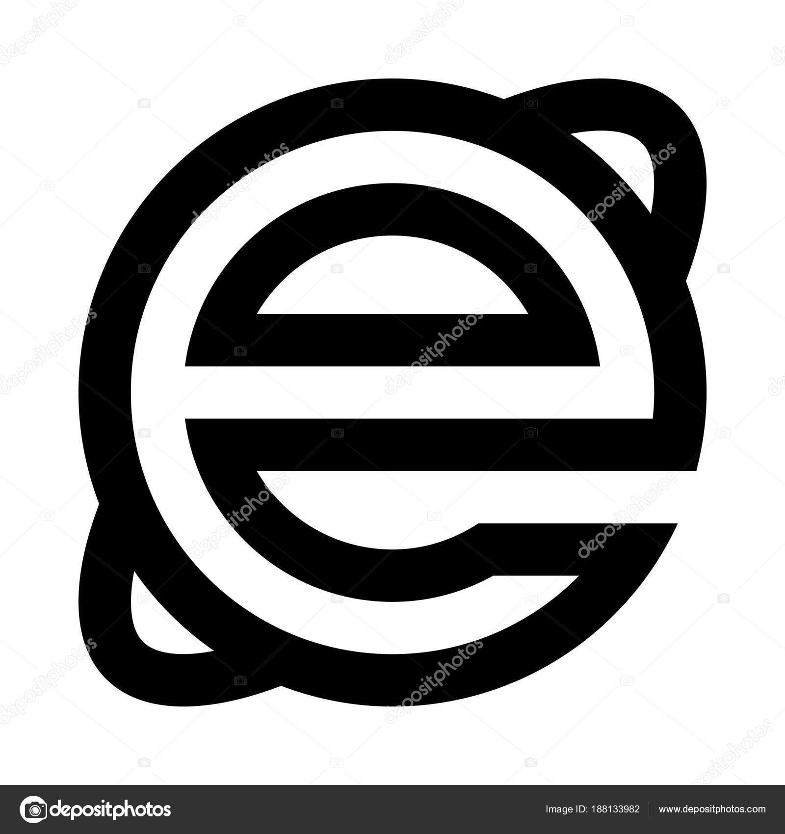 Internet Explorer Icon Vector Illustration Stock Vector