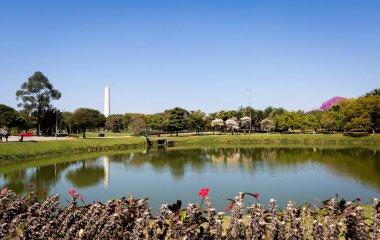 Ibirapuera Park and Obelisk of Sao Paulo