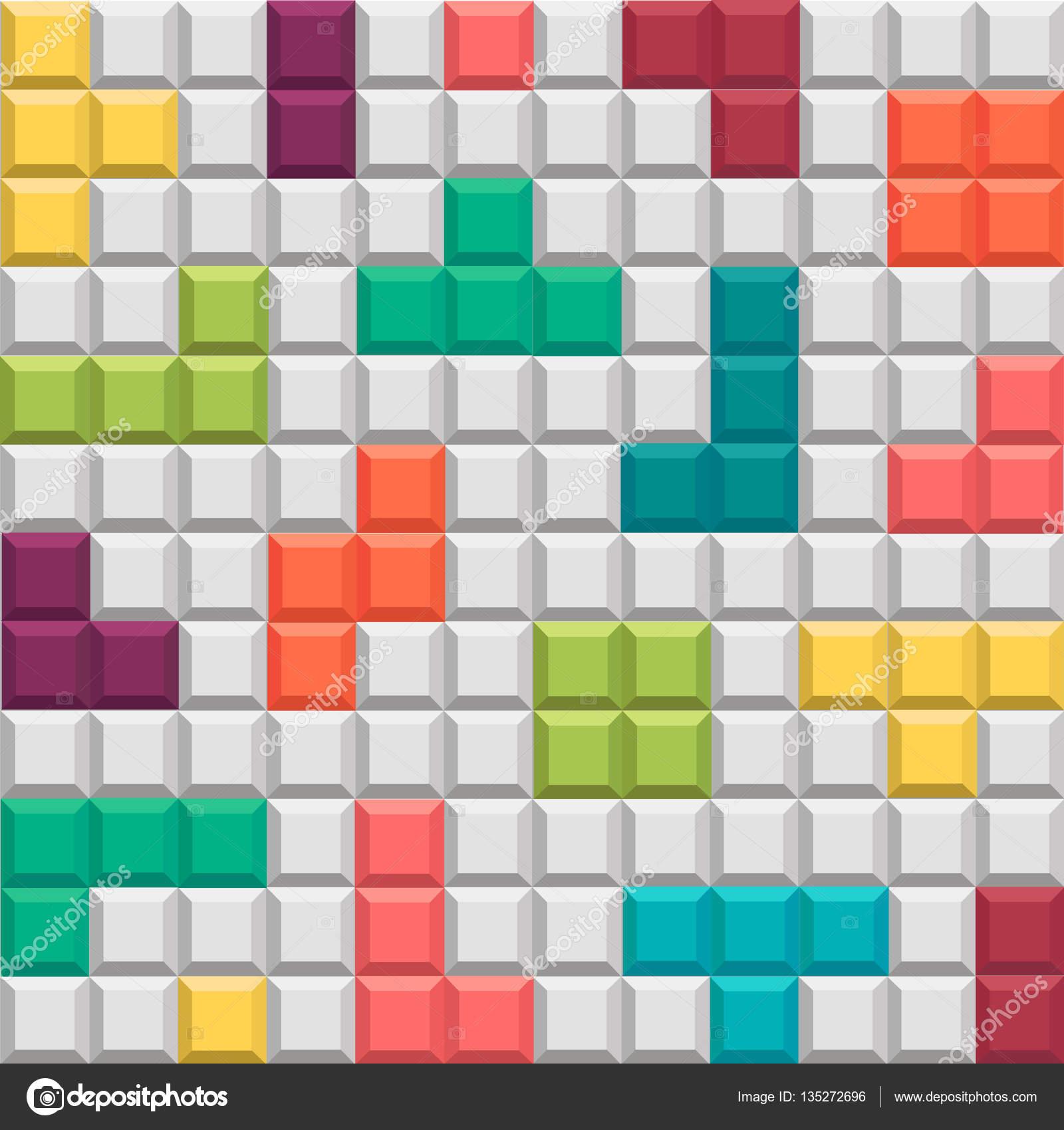 Fondo Geometrico Juego Al Estilo Tetris Archivo Imagenes