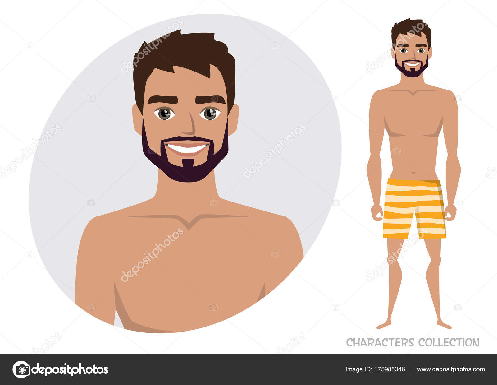 Un Elegante Bañador Hombre Playa De En WE2YeDHI9