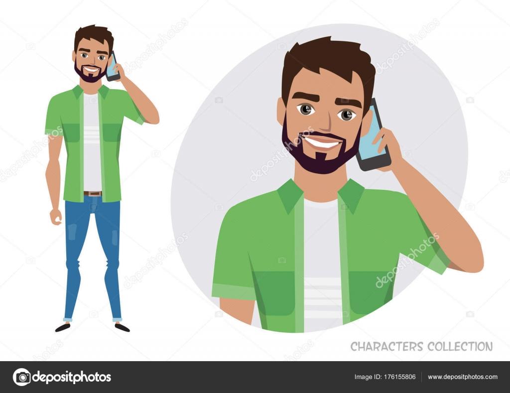 Vector: Personas Hablando Por Telefono