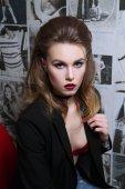 Portrét, Glamour Girl s světlý make-up