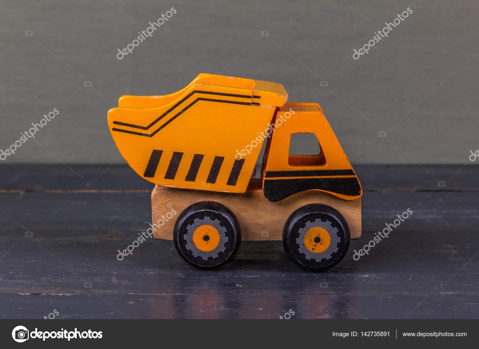 Drôle Jouet Orange Voiture En Bois Camion De 35ARqcjS4L