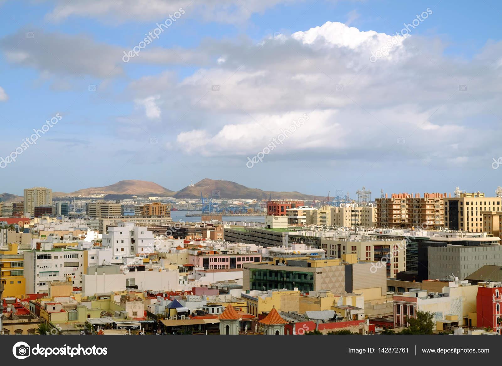 Vista en las palmas de gran canaria y el puerto gran - Fotografia las palmas ...