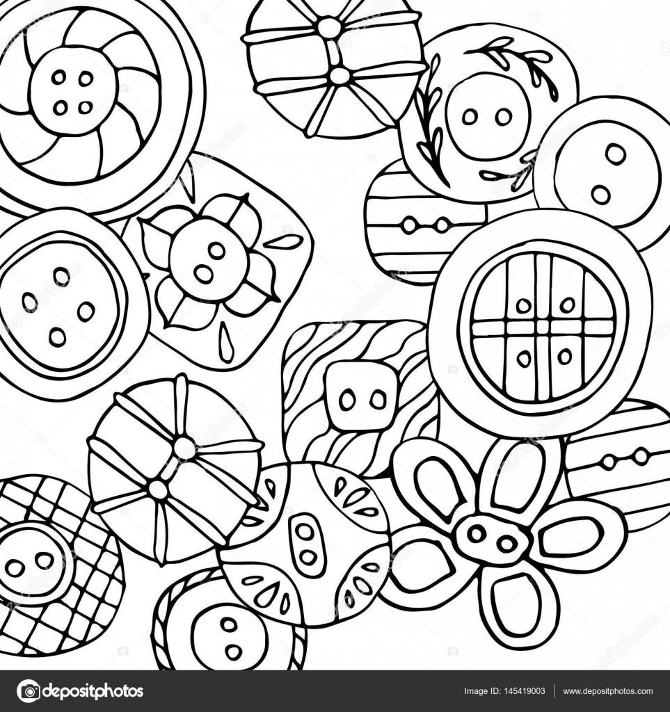 Página para colorear de botones encantador — Archivo Imágenes ...