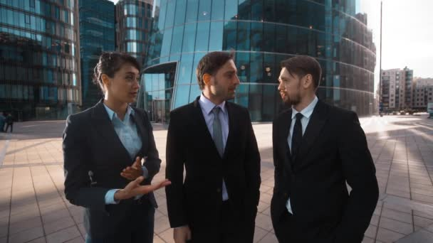 Three Young businesspeople applause You