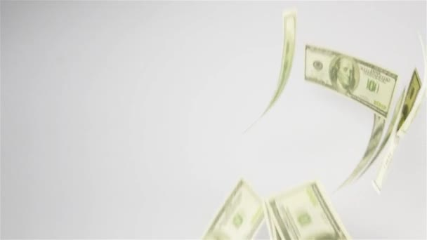 Dollar banknotes flying in the air