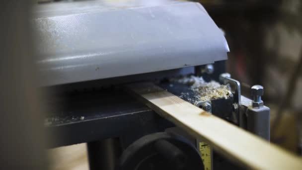 Master work at woodworking machine