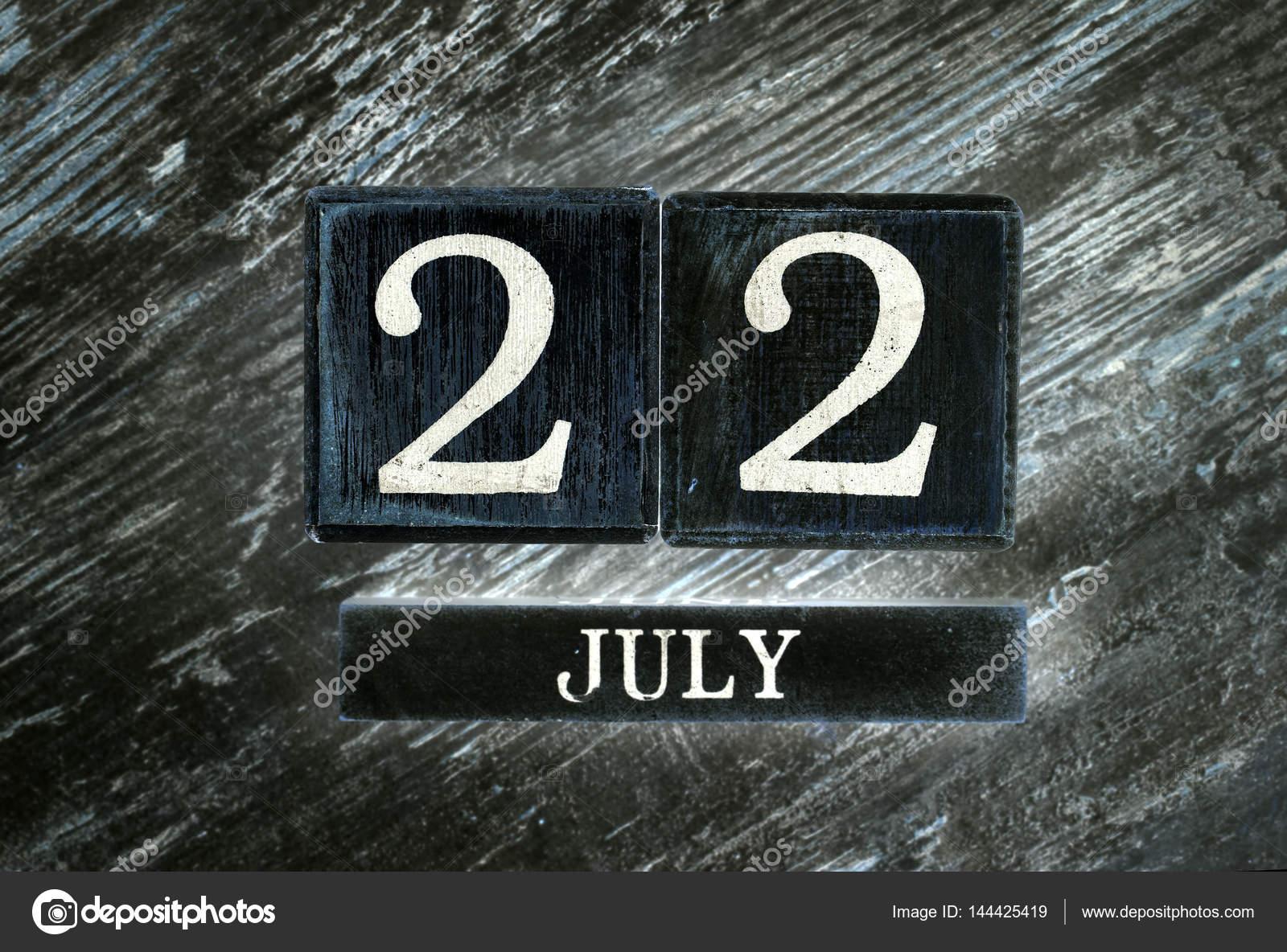 July 22th Calendar — Stock Photo © EsinDeniz #144425419