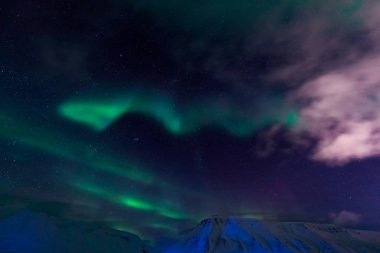 The polar Northern lights in Norway