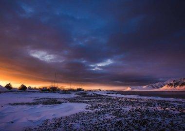 """Картина, постер, плакат, фотообои """"Зима в горах в закат"""", артикул 149995858"""