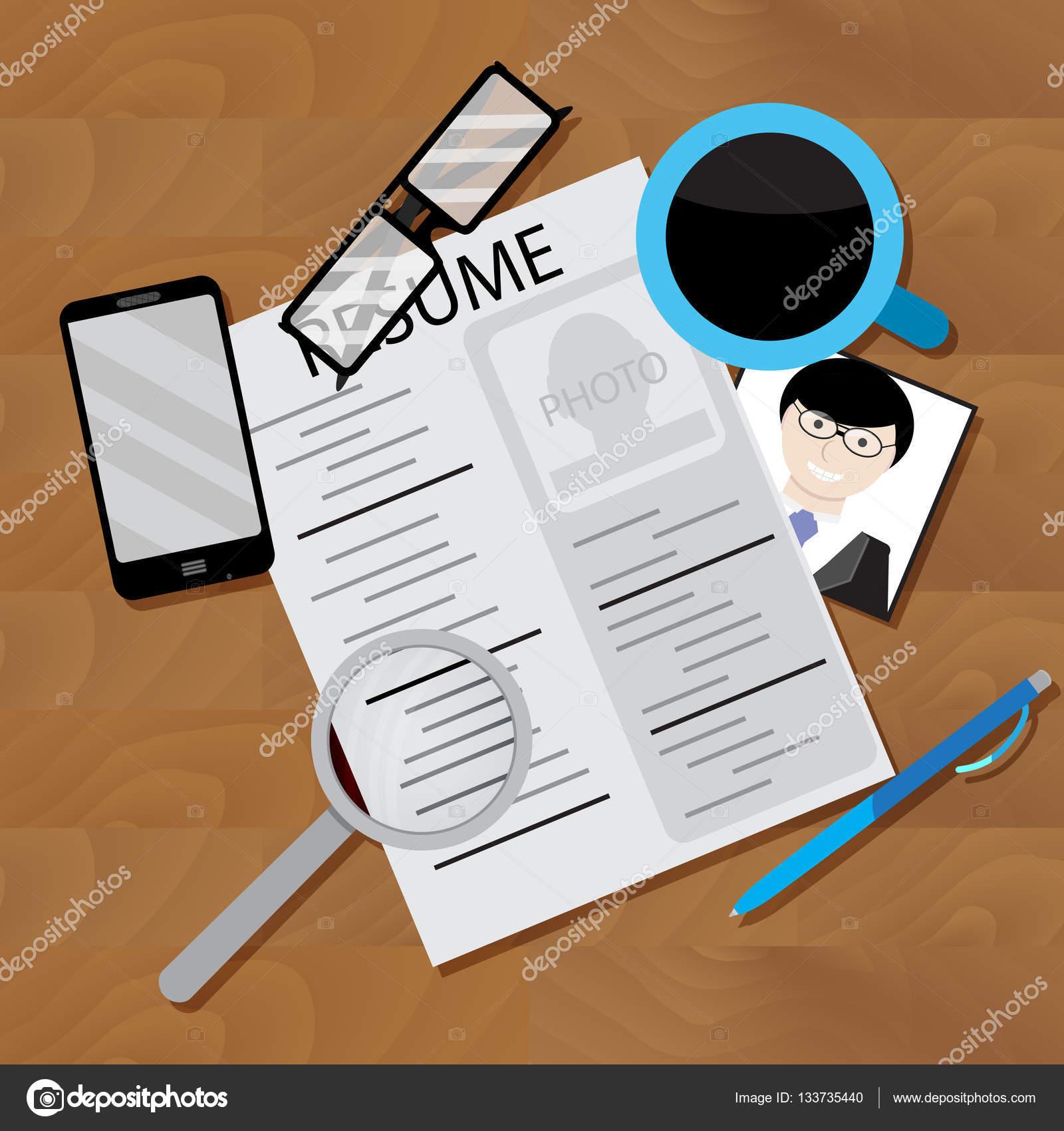 Escribir curriculum vitae y buscar empleo — Archivo Imágenes ...