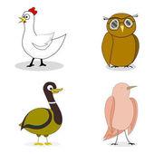 Sada ptáků vektor znamení