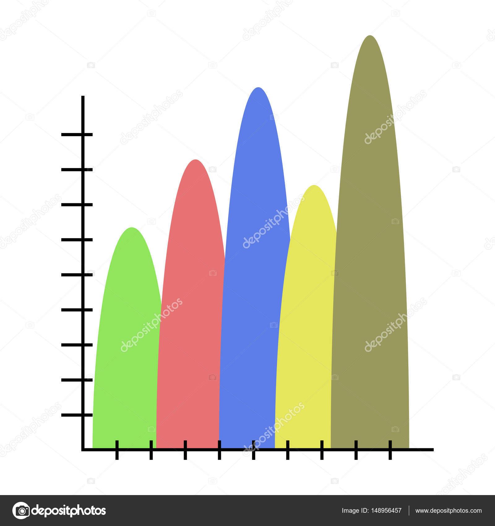 Carta de colores de plantilla de la onda — Vector de stock ...