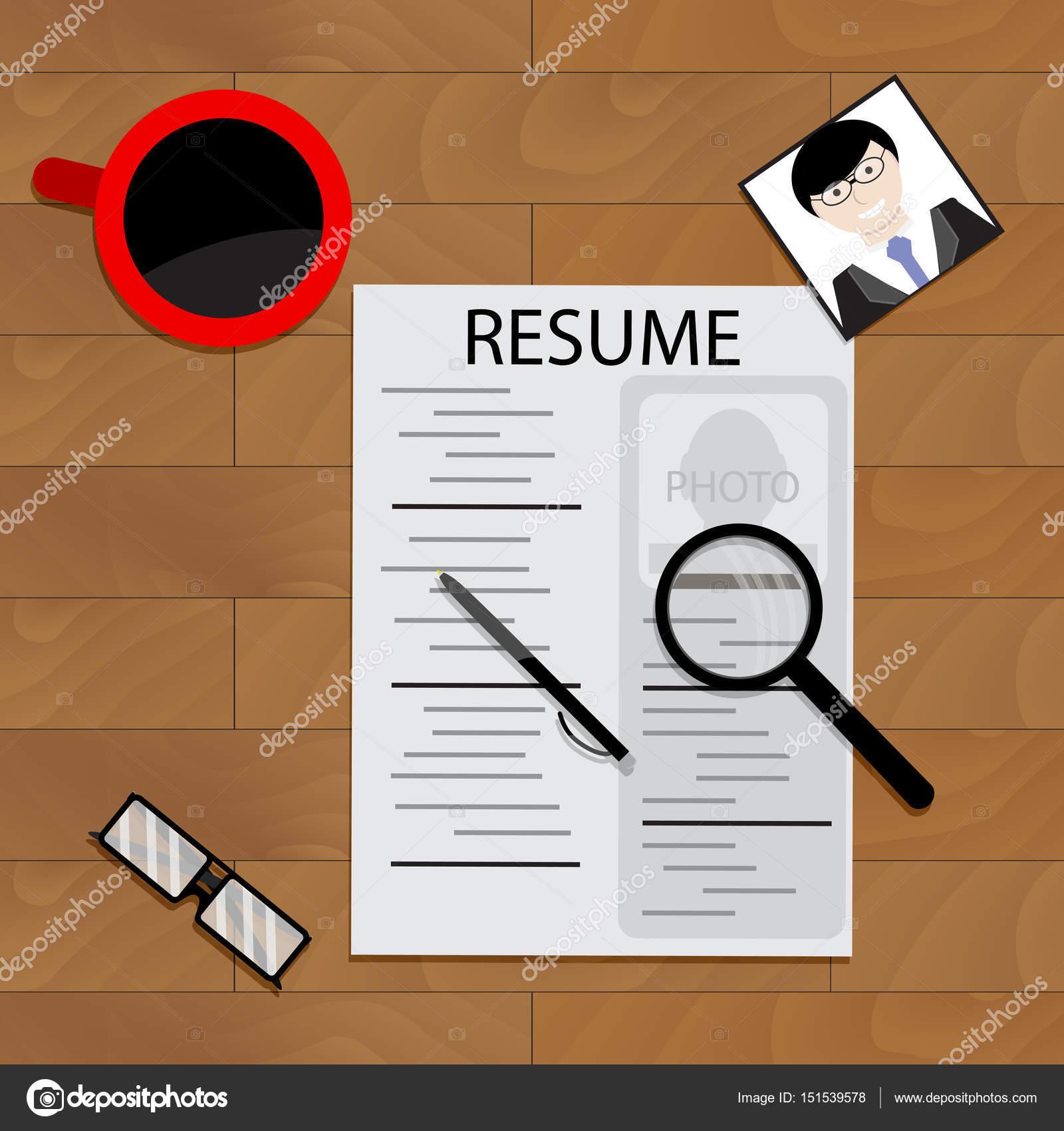 Candidato de curriculum para trabajar — Vector de stock © 09910190 ...