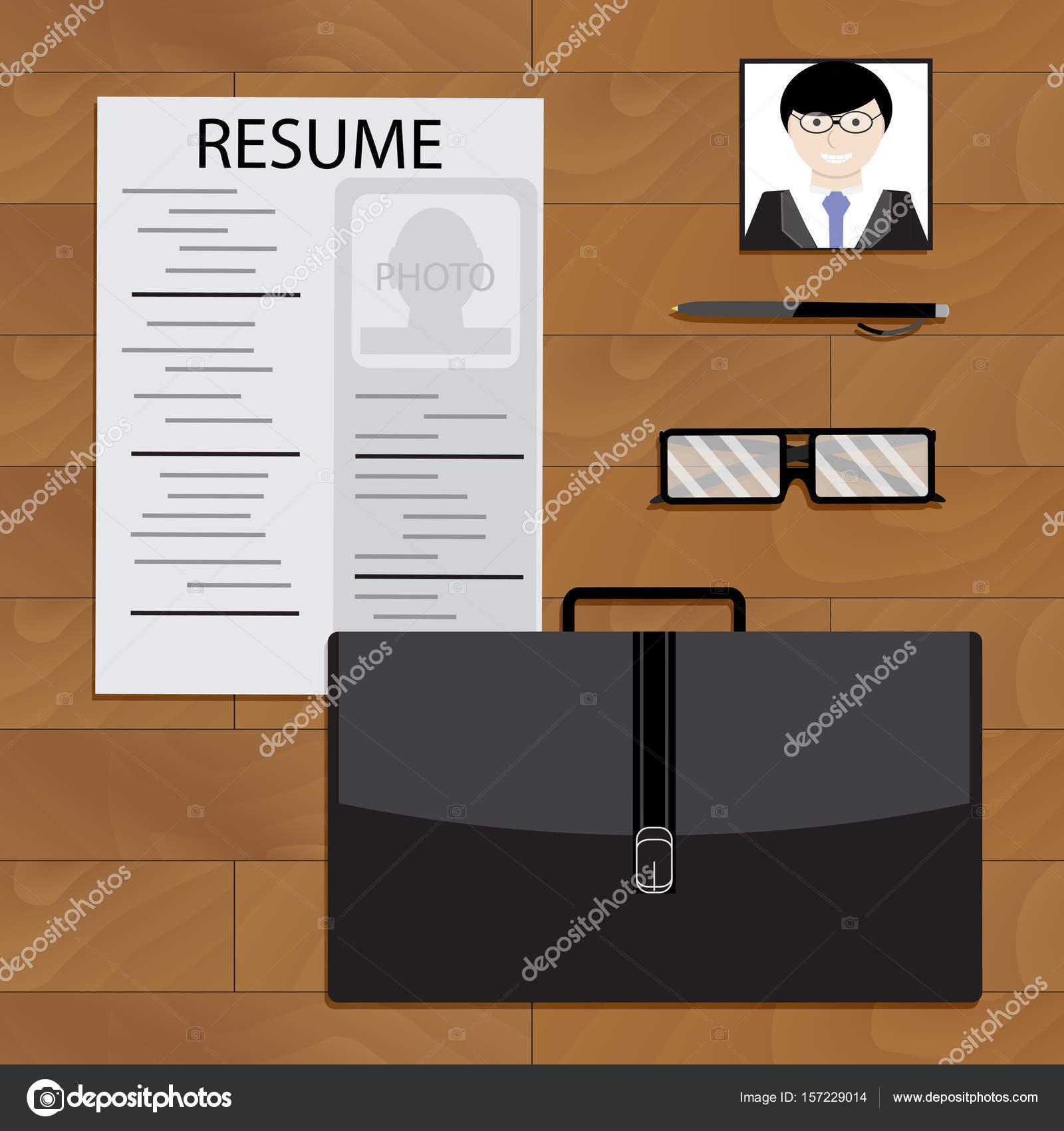 Interview Konzept vorbereiten — Stockvektor © 09910190 #157229014