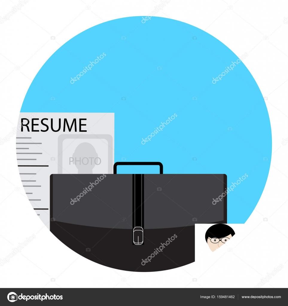 Icono de búsqueda de trabajo para uso — Vector de stock © 09910190 ...