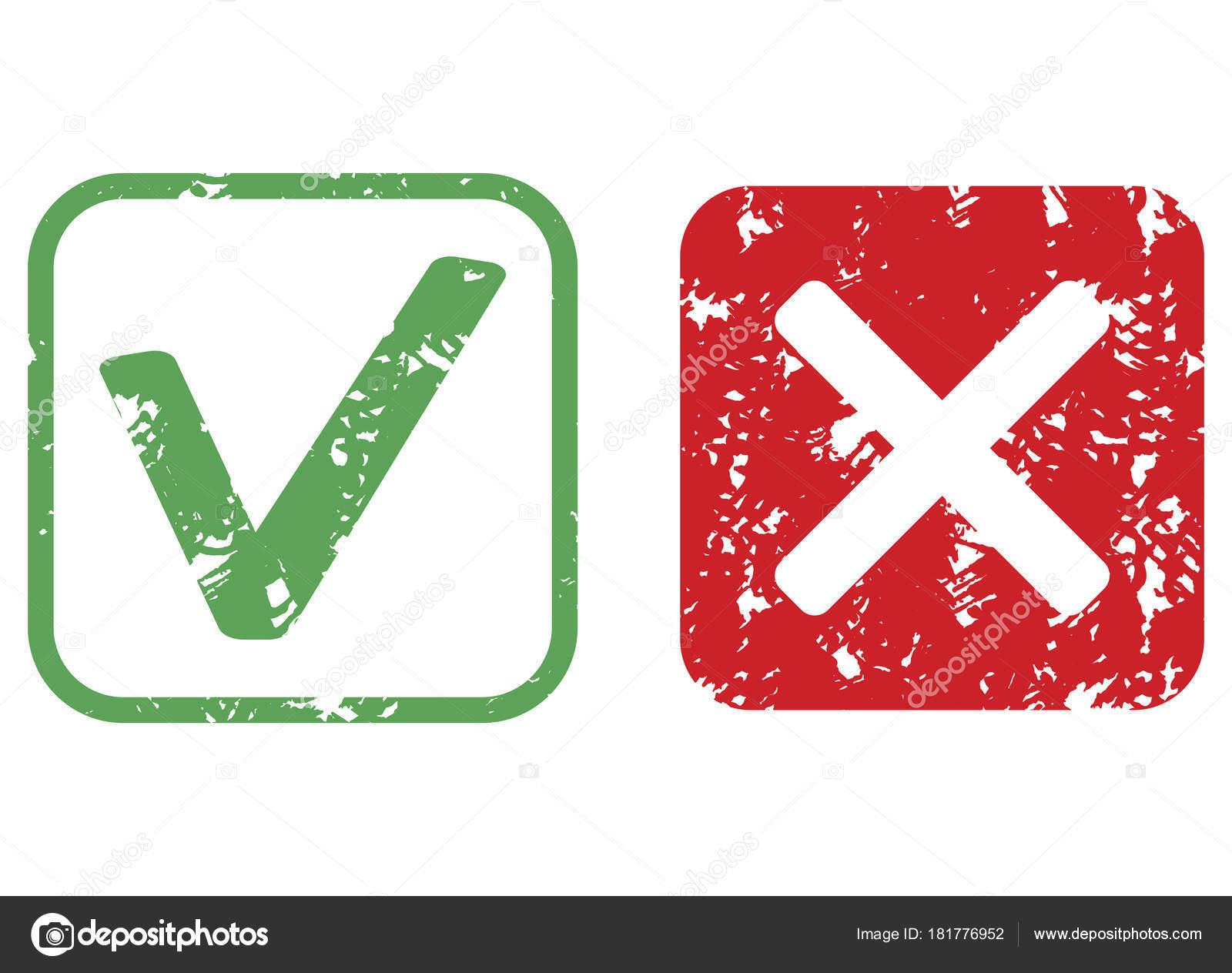 Zustimmung und Ablehnung Stempel Textur — Stockvektor © 09910190 ...