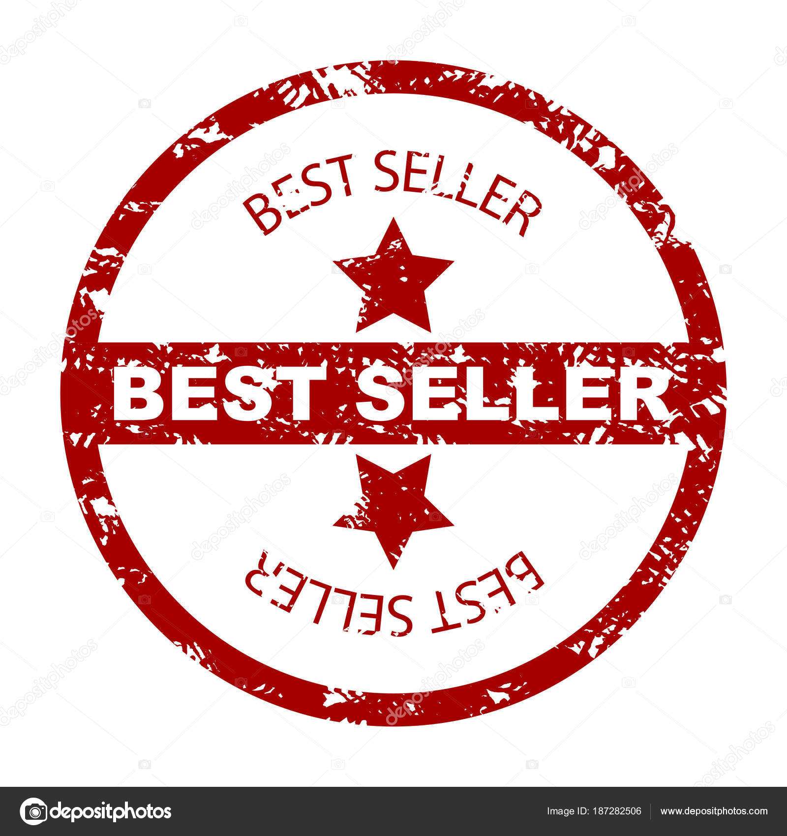 best seller stamp seal with star stock vector 09910190 187282506