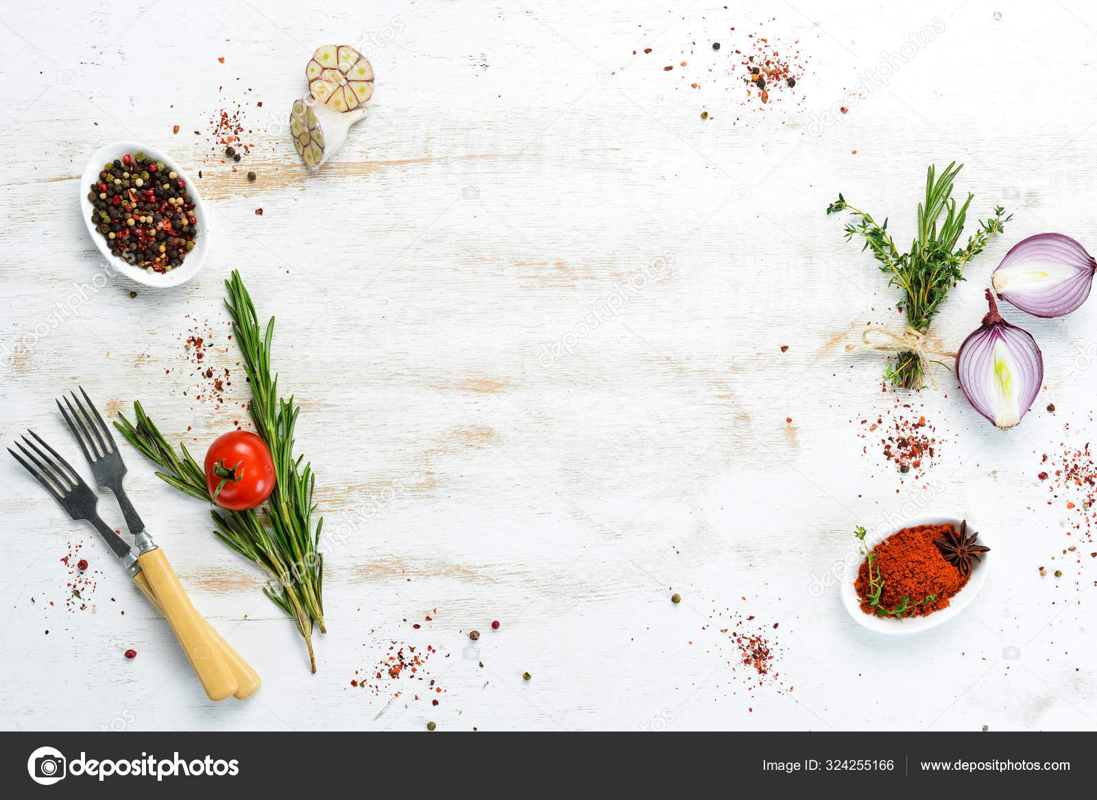 Cooking Banner Background Spices Vegetables Top View Free Space Your Stock Photo C Yarunivphoto 324255166