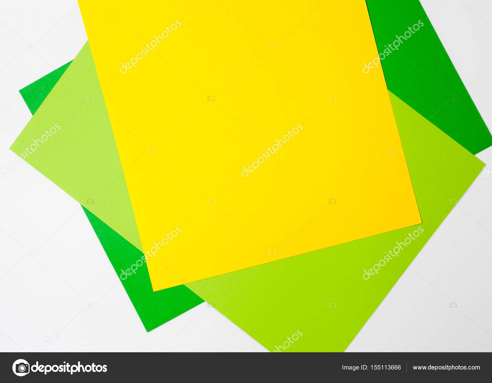 Sheets of colored paper. Place for text. — Stock Photo © ekramar ...