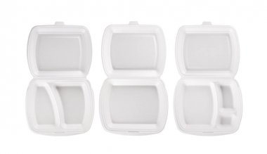 Disposable container for food isolated