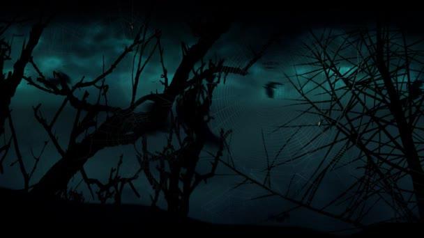 Bat měsíc stromy Storm 4k smyčka
