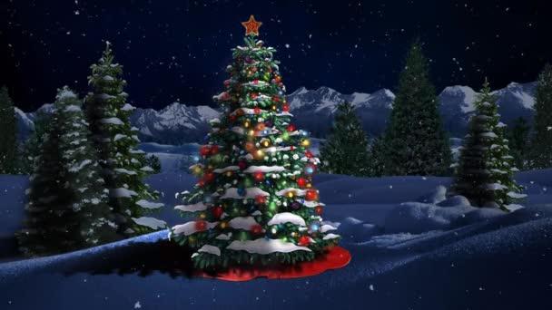 Blue Mountain vánoční stromek 4k smyčka