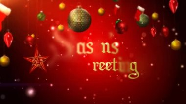 Seasons greetings stock videos royalty free seasons greetings seasons greetings ornaments 4k loop stock video m4hsunfo