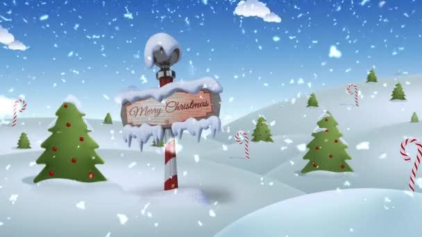 Severní pól Veselé Vánoce 4k smyčka