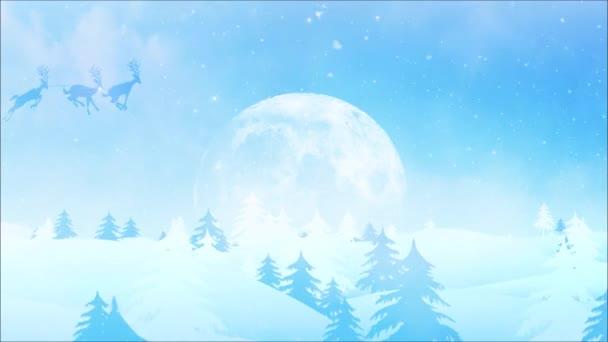 Zimní zázrak Veselé Vánoce 4k smyčka