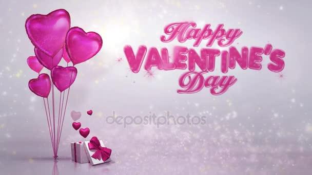 Happy Valentine Day Presents 4k Loop Stock Video C Spidey888