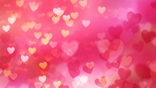 Stoupající Valentine srdce 4k smyčka