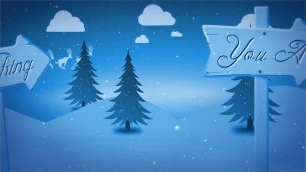 Veselé Vánoce zima znamení vektor 4k